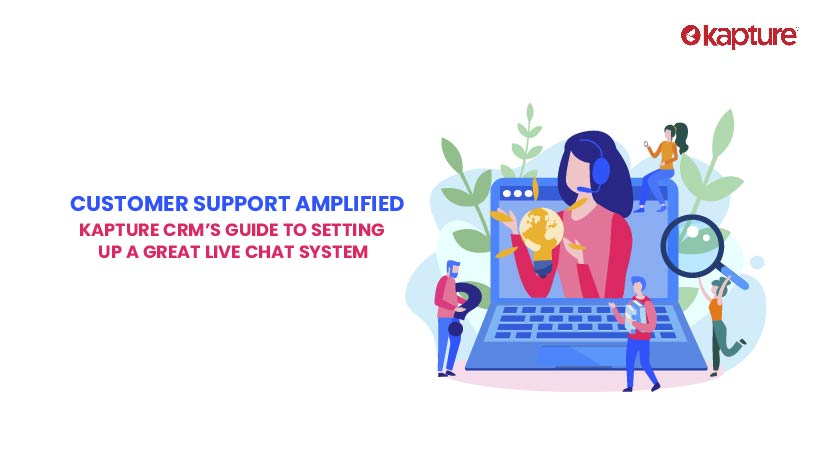 Customer support with live chat system