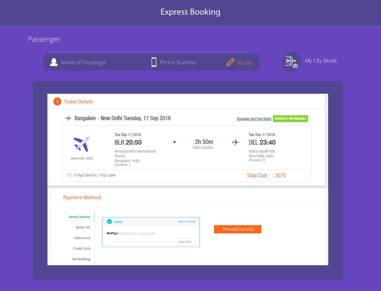 Custom Booking Flow