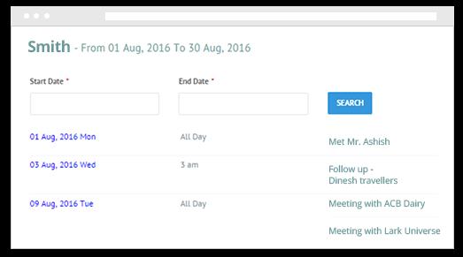 Dashboard & Calendar View Dashboard