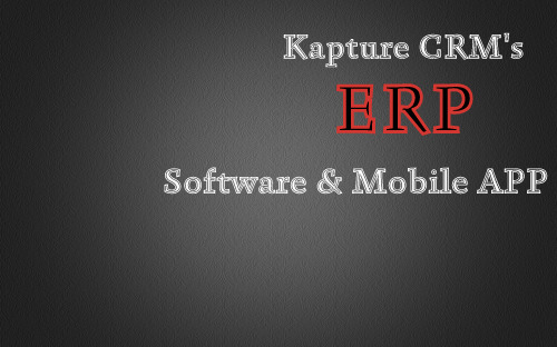 Kapture CRM Enterprise Resource Management Software