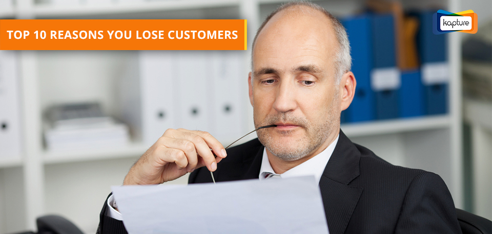 Top 10 reasons you lose customers