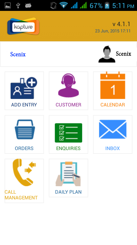 Kapture CRM app