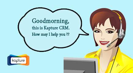 Telecaller greeting with Kapture CRM