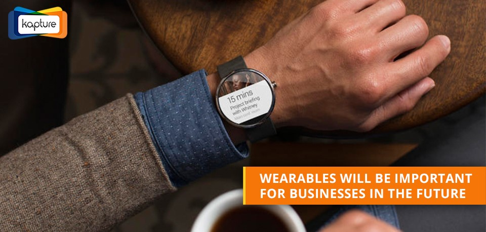 How is wearable technology important for improving business operations?