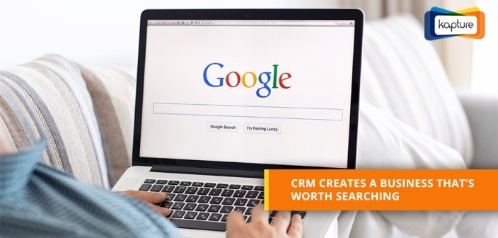 Search marketing through CRM