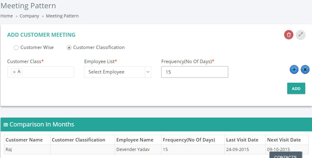 Client response management