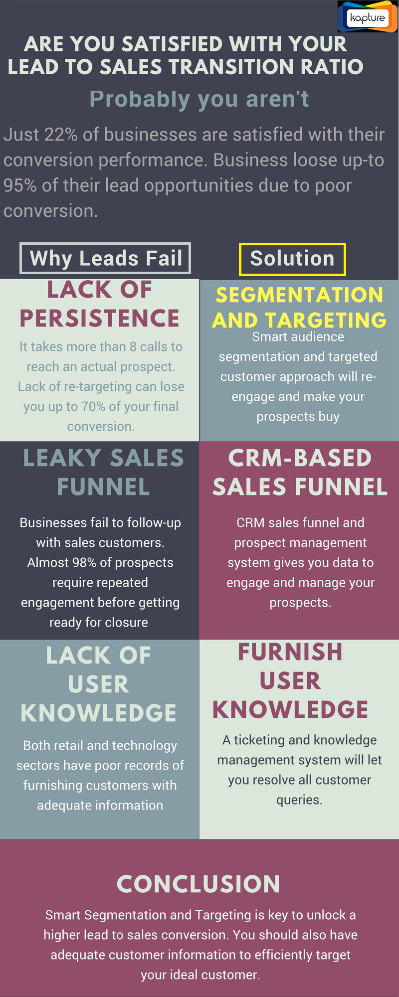 Lead to Sales Conversion- Infographics
