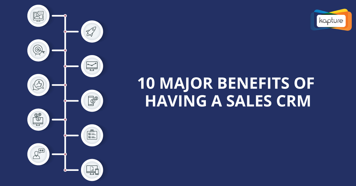 Top 10 Major Benefits of Having a Sales CRM [INFOGRAPHIC]