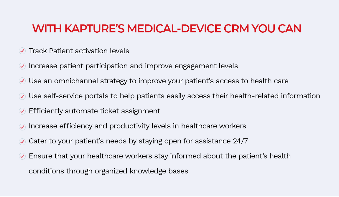 Enhance your patient engagement strategies with Kapture's Medical CRM