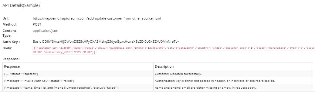 Update API 3