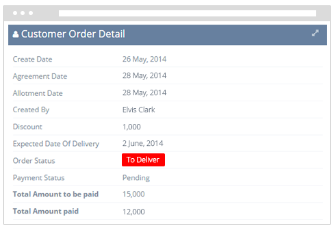 Order Details and Status