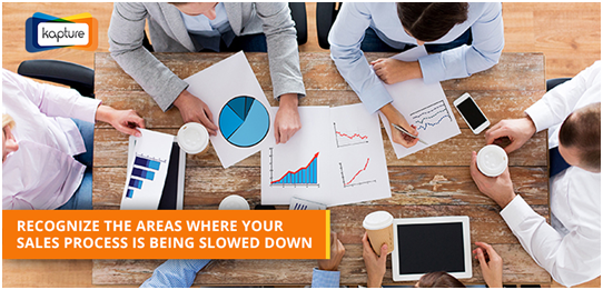 Areas where sales process slows down