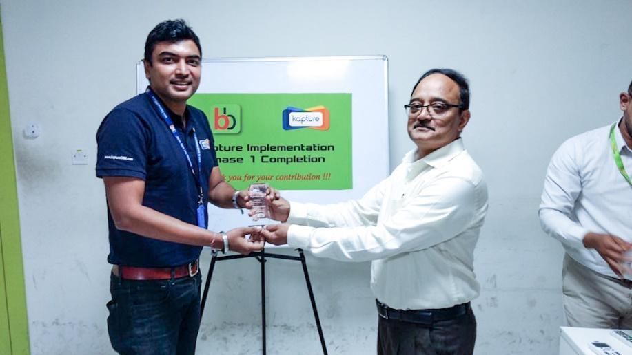 Sheshgiri Kamath, CEO with K.B Nagaraju, CEO, IRCPL