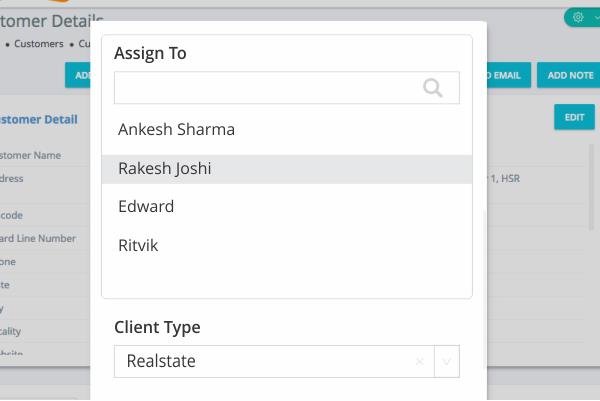 Assign Clients to Team