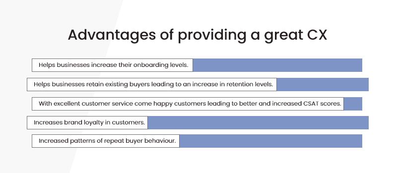 Advantages of providing a great CX