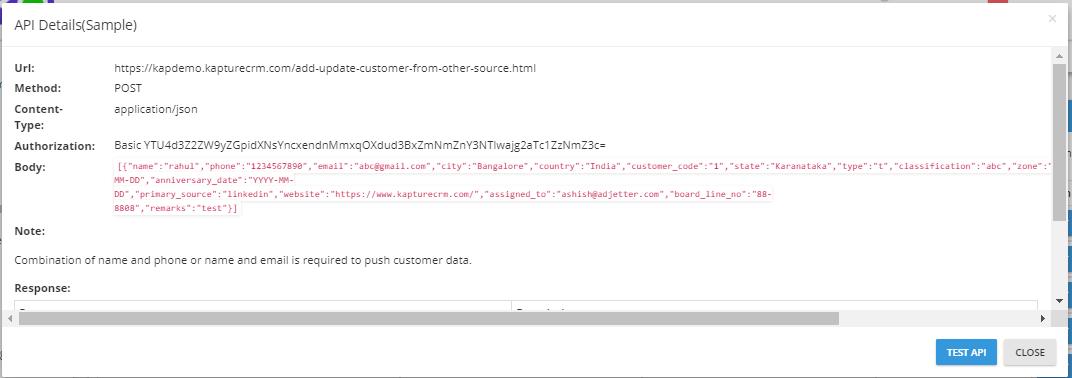 Customer API 4